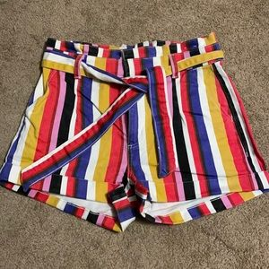 High waisted colorful shorts